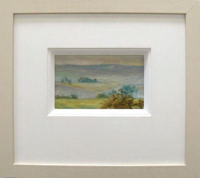 """""""Lidgetton Valley Road III""""  Oil on Board   19 x 12 cm"""